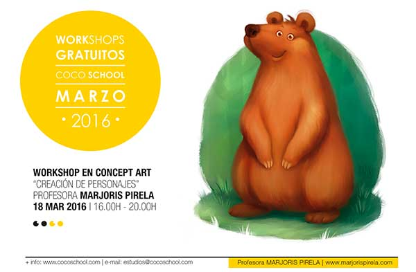 Coco School Workshop Creacion-de-Personajes-Majoris-Pirela