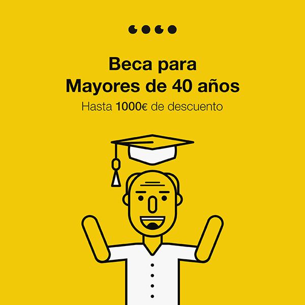 Beca Coco School para mayores de 40 años