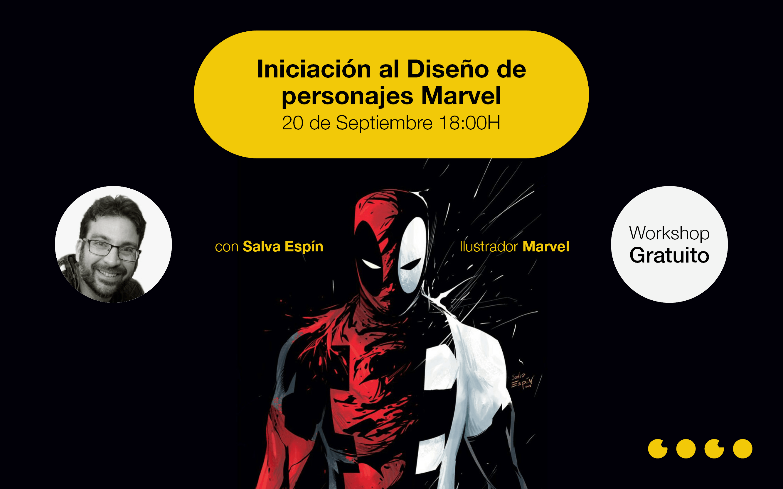 Workshop Diseño Personajes Marvel Salva Espín