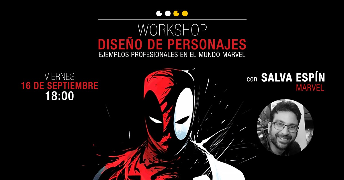 workshop con salva espín marvel