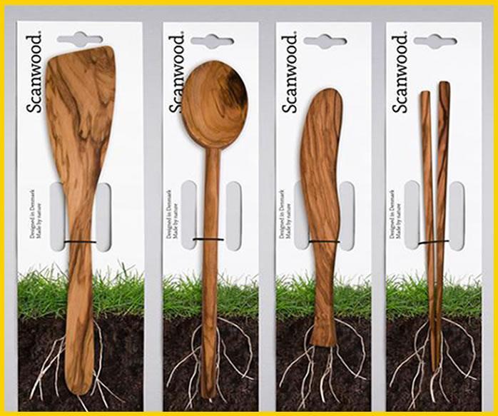 diseño packating creativo utensilios cocina