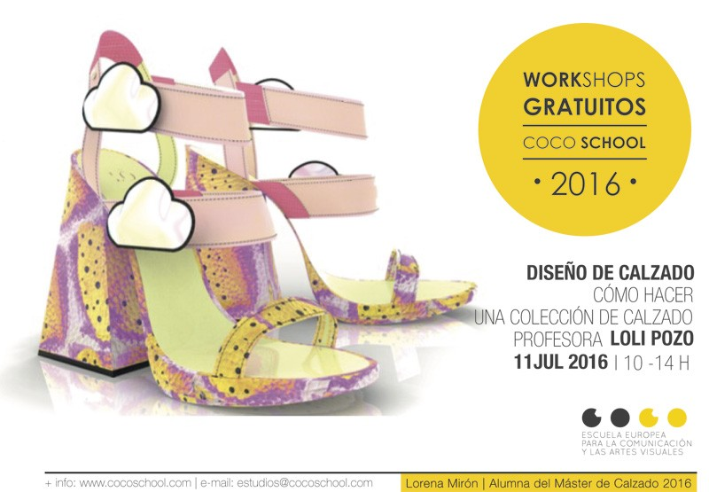 Workshop de Calzado gratuito Coco School