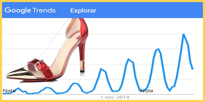 google tendencias calzado