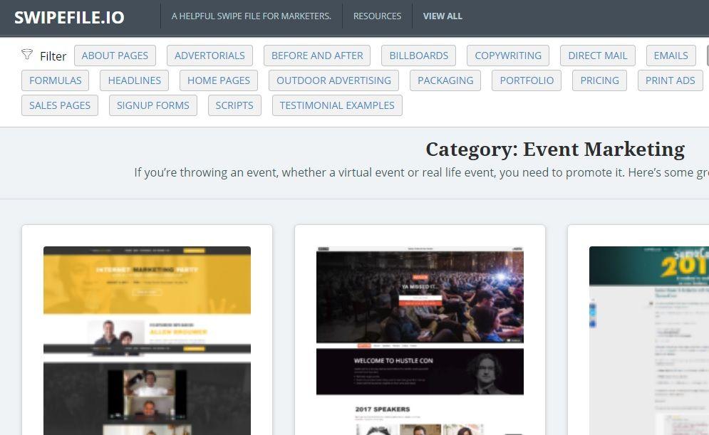 herramienta con ejemplos de diseños de paginas web