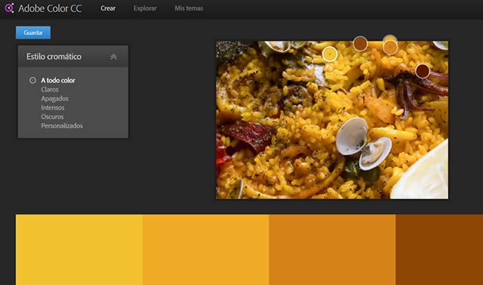 herramienta paleta de colores