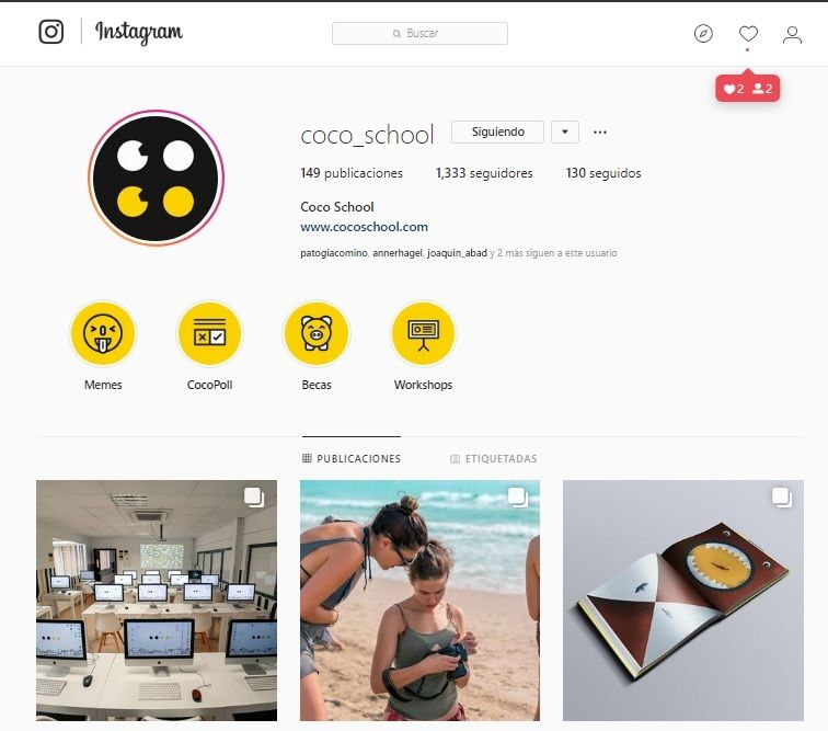 instagram coco school