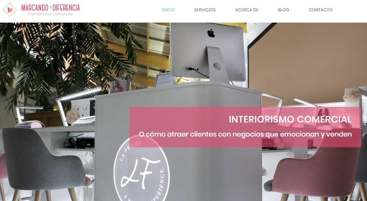 marcando la diferencia web interiorismo comercial