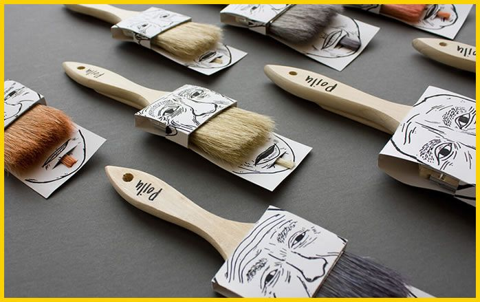 packaging creativo pinceles bigotudos