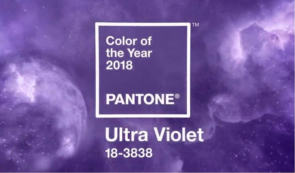 pantone ultra violeta color del año 2018