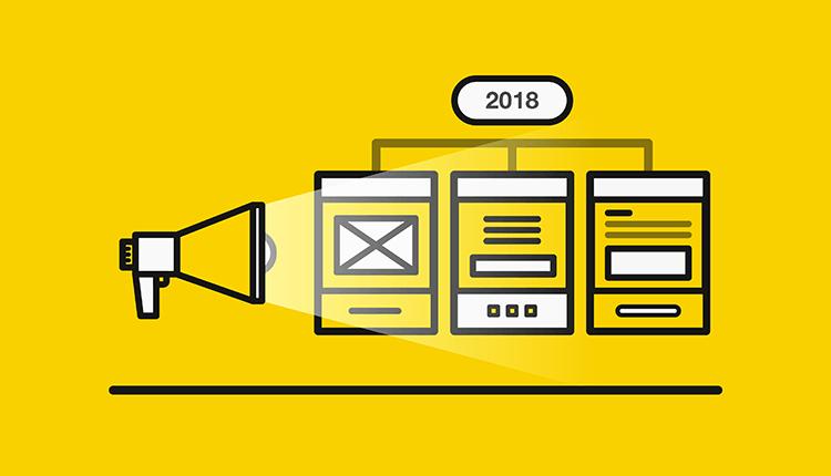 Tendencias 2018 diseño gráfrico y marketing online